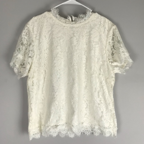 Laundry By Shelli Segal Tops - Laundry Shelli Segal all over lace top ivory